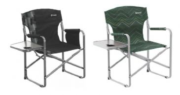 Outwell Bredon Hills Chair With Side Table Fold Up Chair - Black or Green